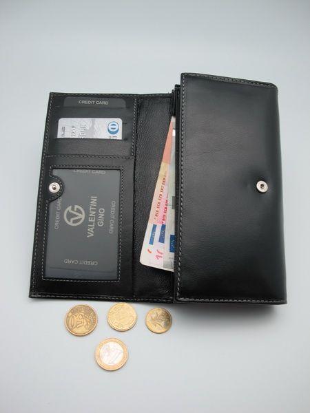 Usnjena črna denarnica
